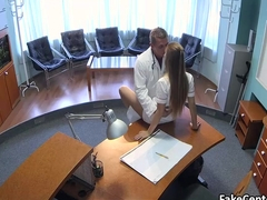 Horny doctor creampied hot nurse