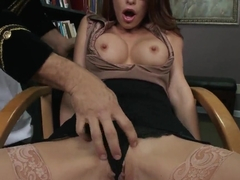 Monique Alexander poses in hot lingerie and gets banged