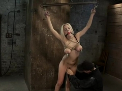 Hot 19yr Blond with huge natural 'F' breastsThis is her first ever hardcore bondage shoot.