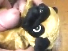 small plush fucked and cum