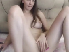 Beylee - Ukrainian so beautiful girl playing with pussy and ohmibod orgasm