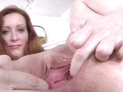 Czech Redhead Babe Gaping Her Cunt