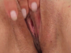 Handsome Britney plays with her dildo