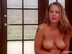 Lizzy London fastened gang group sex