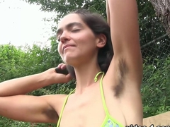 Incredible pornstar Katie Zucchini in Horny Outdoor, Hairy porn scene
