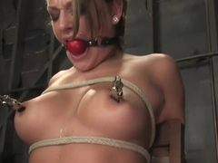 18 year old Carmen McCarthyStruggles with her first ever bondage experience.