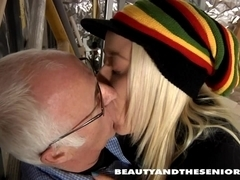 Blond teen Tina fuck an old guy