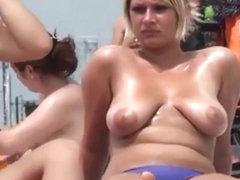 perfect busty tits nude beach voyeur 4 two for one