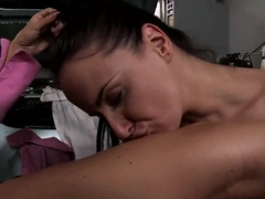 Lesbian sex between Andy Brown and Katy Parker