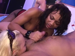 Fabulous pornstars Veronica Sanchez, Sharka Blue and Billy Raise in horny big tits, lingerie sex c.