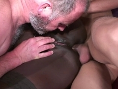 Interracial - Ebony bitch fucked by 2 horny white guys