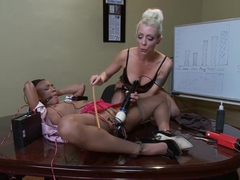 Lesbian Electrofuck on the Boss's Desk