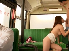 Horny Schoogirl Takes It On The Bus