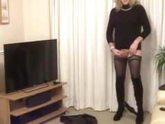 Crazy shemale clip with Stockings, Amateur scenes