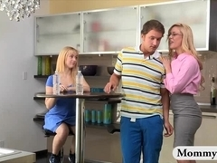 Huge juggs stepmom Cherie Deville threeway with teens