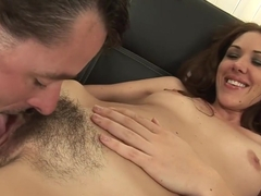 Fabulous pornstar Katie Angel in amazing hairy, brunette adult scene