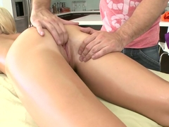 Blonde Bombshell Gets Sex Massage