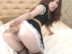Hot Asian Fucked Hers Ass With Her Dildo