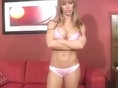 Nicole teasing in HOT satin panties