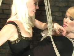 A different Hunt Lorelei Lee binds Eva Lin in Sexy Inescapable Bondage