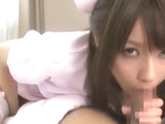 Fabulous Japanese chick Yui Uehara in Best Threesomes, Facial JAV clip