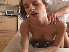 Curly haired skinny chick Leana Sweet fucks with best friend's boyfriend Renato