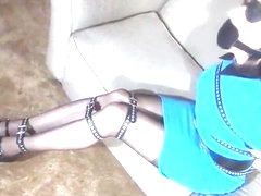 Tranny in Blue Dress tied