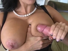 Dark haired milf Ava Addams is fucking on camera