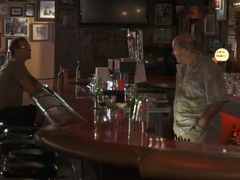 Lonely MILF Lezley Zen has sex at a local bar
