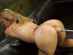 Exotic pornstars Alli May, Alli Rae in Incredible Spanking, Blonde sex scene