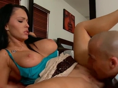 Sexy boobs Jenna Presley spreads her legs as her pussy gets licked