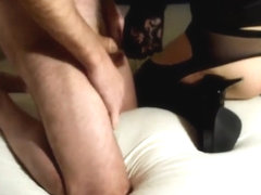 Crossdresser sandy-deluxe fucked hard and facialised