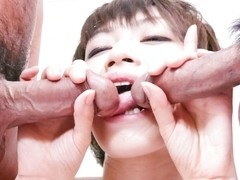 Crazy Japanese chick Akina Hara in Amazing JAV uncensored Teen movie