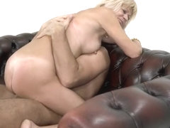 Natural tits pornstar blowjob with cum swallow