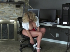 Exotic pornstar Karen Summer in Crazy Masturbation, Blonde adult clip
