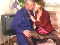 Horny MILF, Russian sex movie