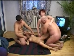 Old & young russian swingers
