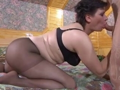 Russian MILF performs hot sex action for her partner