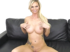 Astrid Star & Johnny Goodluck in Busty Blonde Babe Astrid - WildOnCam
