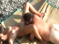 Pussy eating at nudist beach