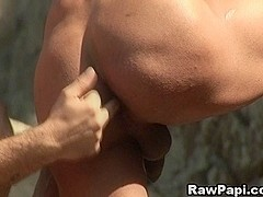 Latinos Hot Anal Pounding at the Beach