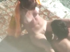 Nudist pussy eating and fingering
