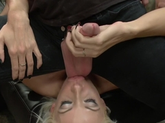 Fuckable Art! Big titted blonde fucked in a crowded gallery