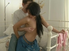 Sweet darling pleasures her man