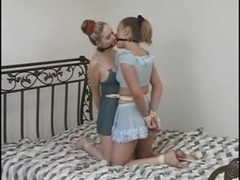 Two girls bound