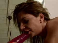 Mandy Bright dildo fuck the ass of hot babe