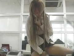 Best Japanese model Rika Shibuya, Mao Kaede in Crazy Office, Solo Girl JAV clip