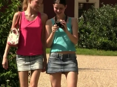Incredible pornstars Blue Angel and Judy Smile in hottest outdoor, college xxx scene
