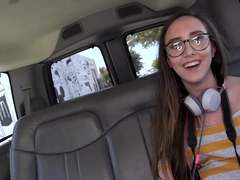 Charlie Stevens in Amateur with glasses gets fucked on BangBus