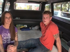 Couple gets picked up on the bangbus